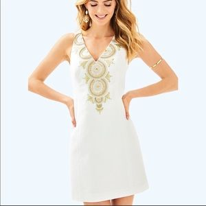 White Gabby Shift Dress Lilly Pulitzer size 4